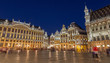 Brussels -  The Grote markt square at dusk.