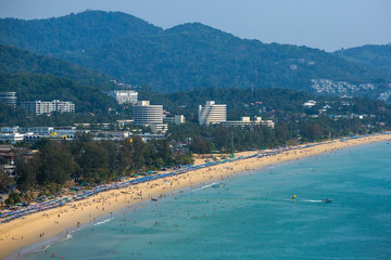 Western coastline of Phuket island, Karon beach, Andaman sea, Th