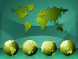 World Map Means Cartography Globalization And Continents poster