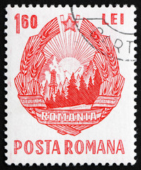 Postage stamp Romania 1967 Old Arms of the Republic