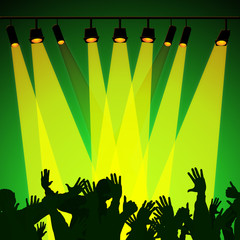Audience Spotlight Represents Backdrop Backgrounds And Entertain
