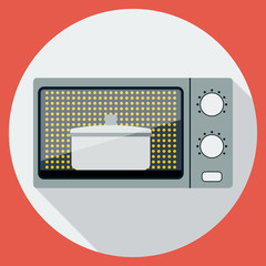 Microwave oven flat vector illustration