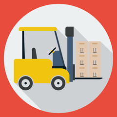 Lift-truck flat vector illustration