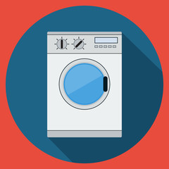 Washing machine flat vector illustration