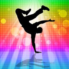Break Dancing Means Hip Hop And Break-Dance