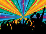 Dancing Disco Indicates Radiance Beam And Cheerful poster