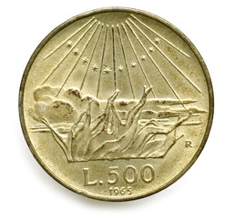 500 Lire di argento Dante Alighieri 1965 Italia