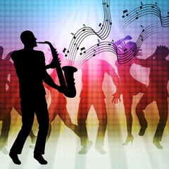 Dancing Music Represents Sound Track And Acoustic