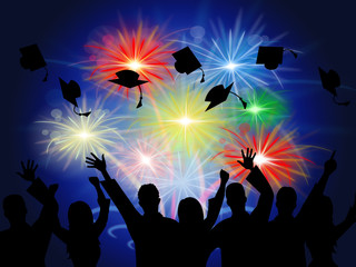 Fireworks Education Shows New Grad And Achievement