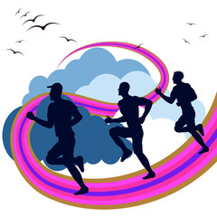 Exercise Jogging Means Get Fit And Running