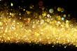Leinwanddruck Bild - Gold glitter