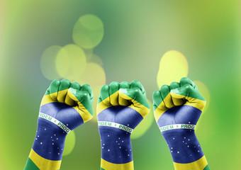 Torcida do Brasil Fundo Bokeh
