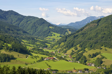 The river Enns valley in Upper Austria