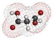 Malonic acid organic dicarboxylic acid molecule.