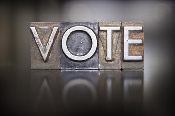 Vote Letterpress