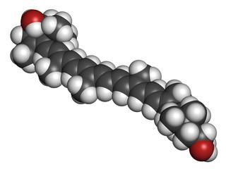 Lutein carotenoid molecule.
