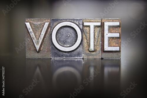 Vote Letterpress - 67102337
