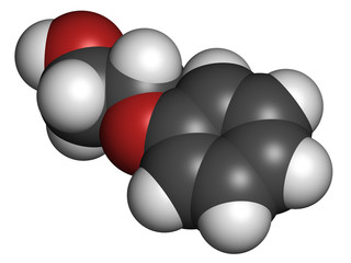 Phenoxyethanol preservative molecule. Used in cosmetics, vaccine
