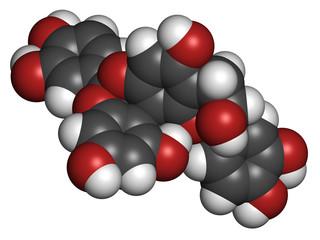 Proanthocyanidin A2 (procyanidin A2, PAC A2) molecule.