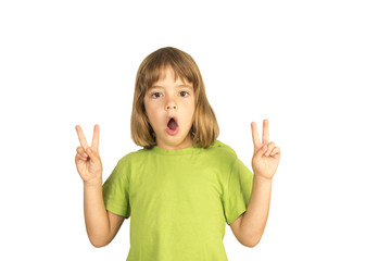 Child Making Peace Sign