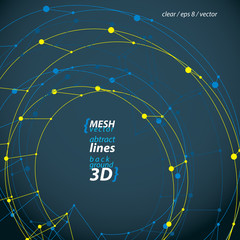 3d mesh update sign isolated on dark background, lattice reuse i
