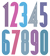 Geometric bright simple striped numbers.