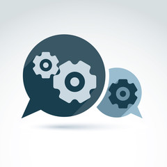 Vector illustration of gears - enterprise system theme, organiza