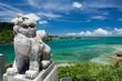 沖縄の海・海とシーサー - 67104169