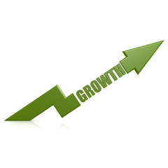 Growth arrow up green