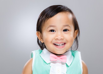Asian baby girl smile