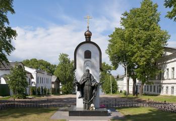 Памятник монаху Макарию в городе Калязин