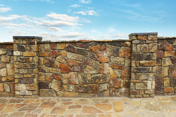 Fence made ​​of stones