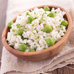 risotto with pea