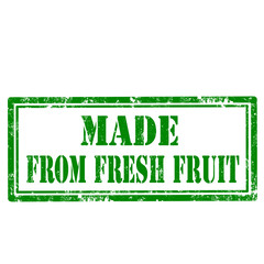 Made From Fresh Fruit-stamp