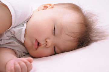 Portrait of newborn baby sleeping