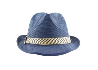 Fedora hat isolated on white background