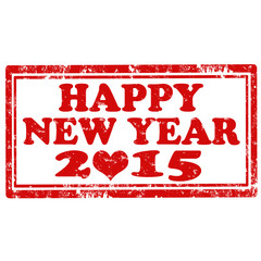 Happy New Year 2015-stamp