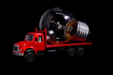 Red Truck Light Bulb