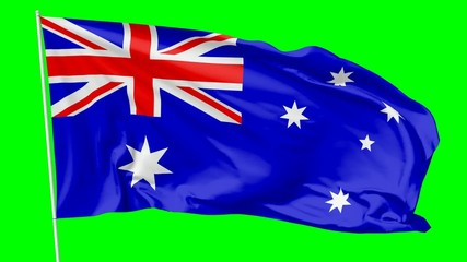 Flag of Australia on flagpole