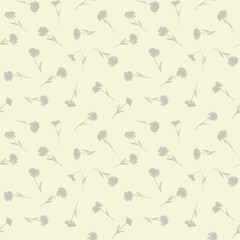 Seamless floral pattern with small wild flowers