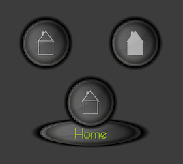 buttons with houses