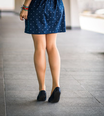 Beautiful, women's legs in shoes.