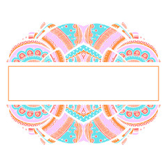 abstract colored patterned frame for text