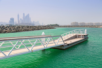 Pier at the Persian Gulf in Dubai