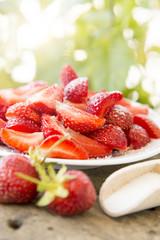 Fresh Strawberrys with sugar