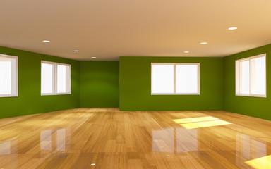 Interior green room