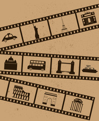 Film strips.Vector