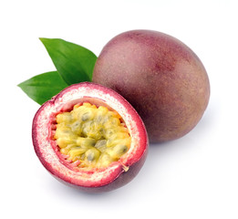 Passion fruit with leaves