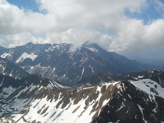 View from Svinica peak in High Tatras,Poland