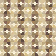 Vector colorful geometric background, vintage abstract seamless
